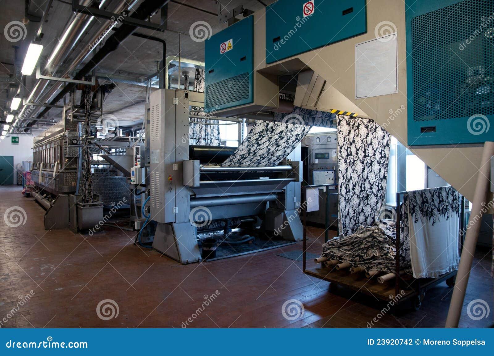 行业工厂打印纺织品