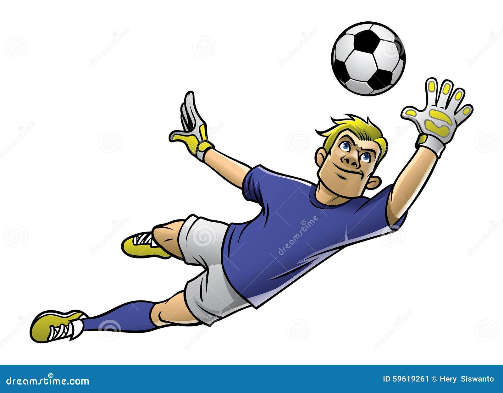 足球守门员传染媒介行动的.图片