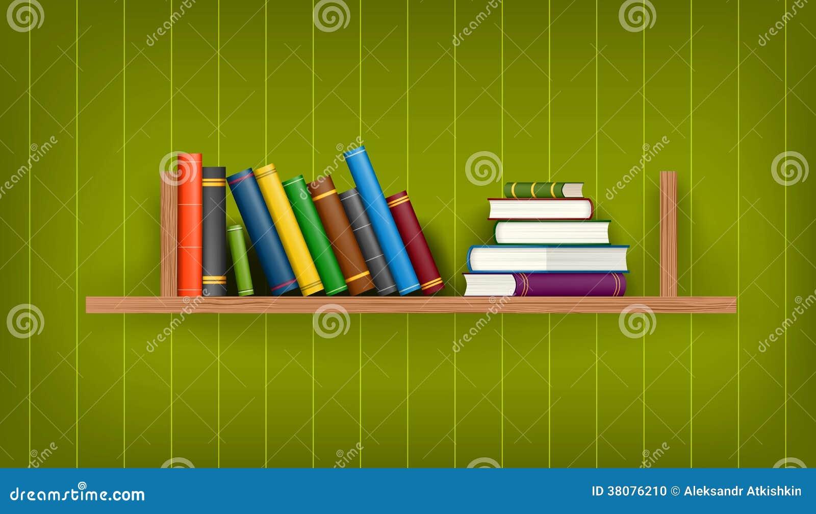 行和堆五颜六色的书