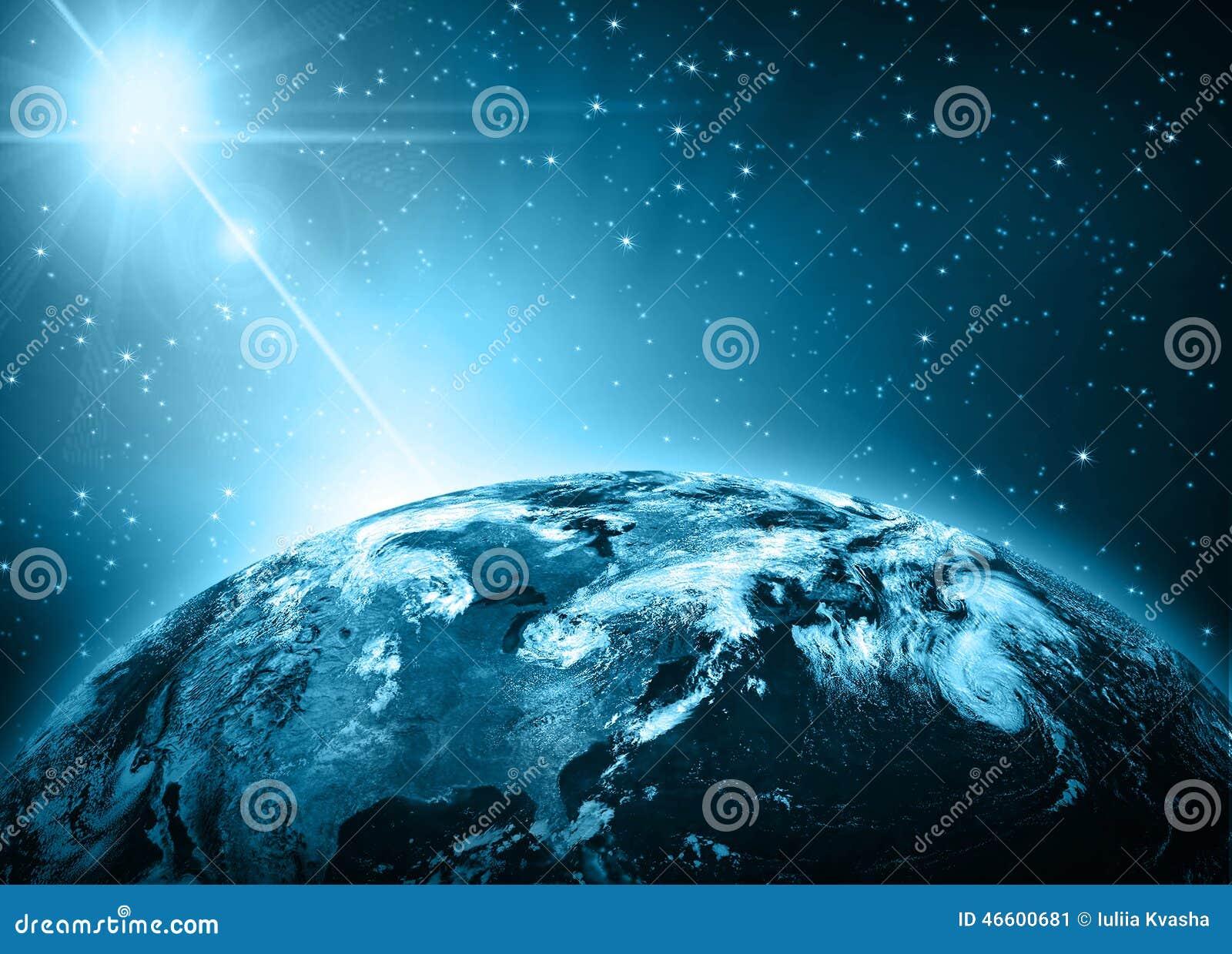 行星地球和光 最佳的企业概念概念全球地球发光的现有量互联网系列