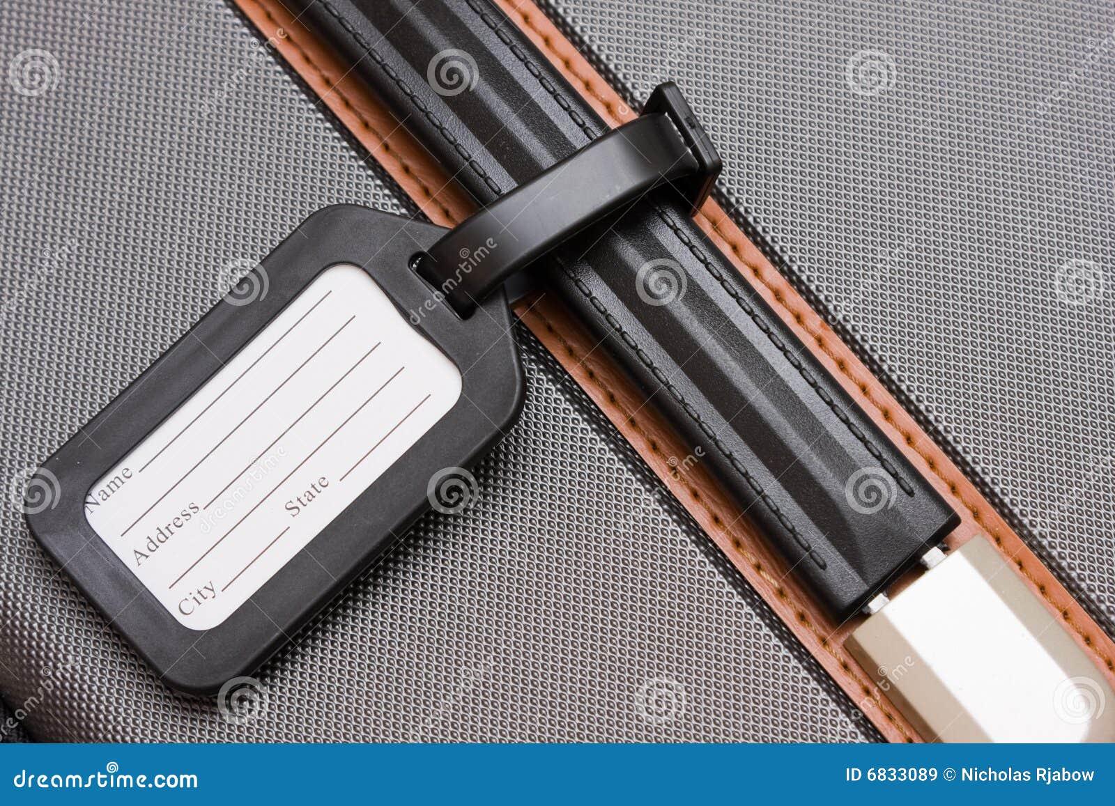 行李黑色皮箱标签