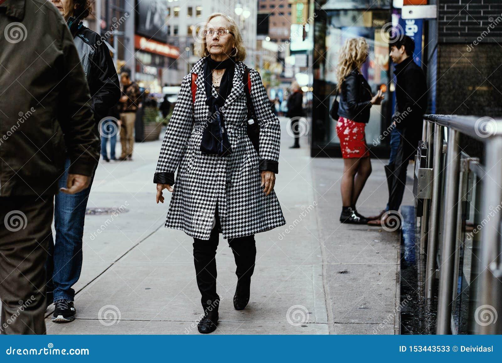 街头时尚在纽约,曼哈顿