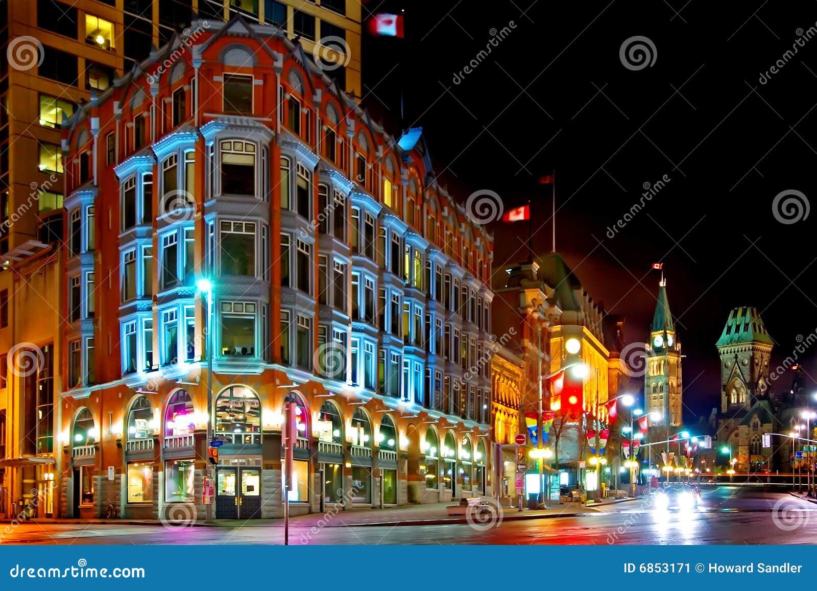 街市晚上渥太华