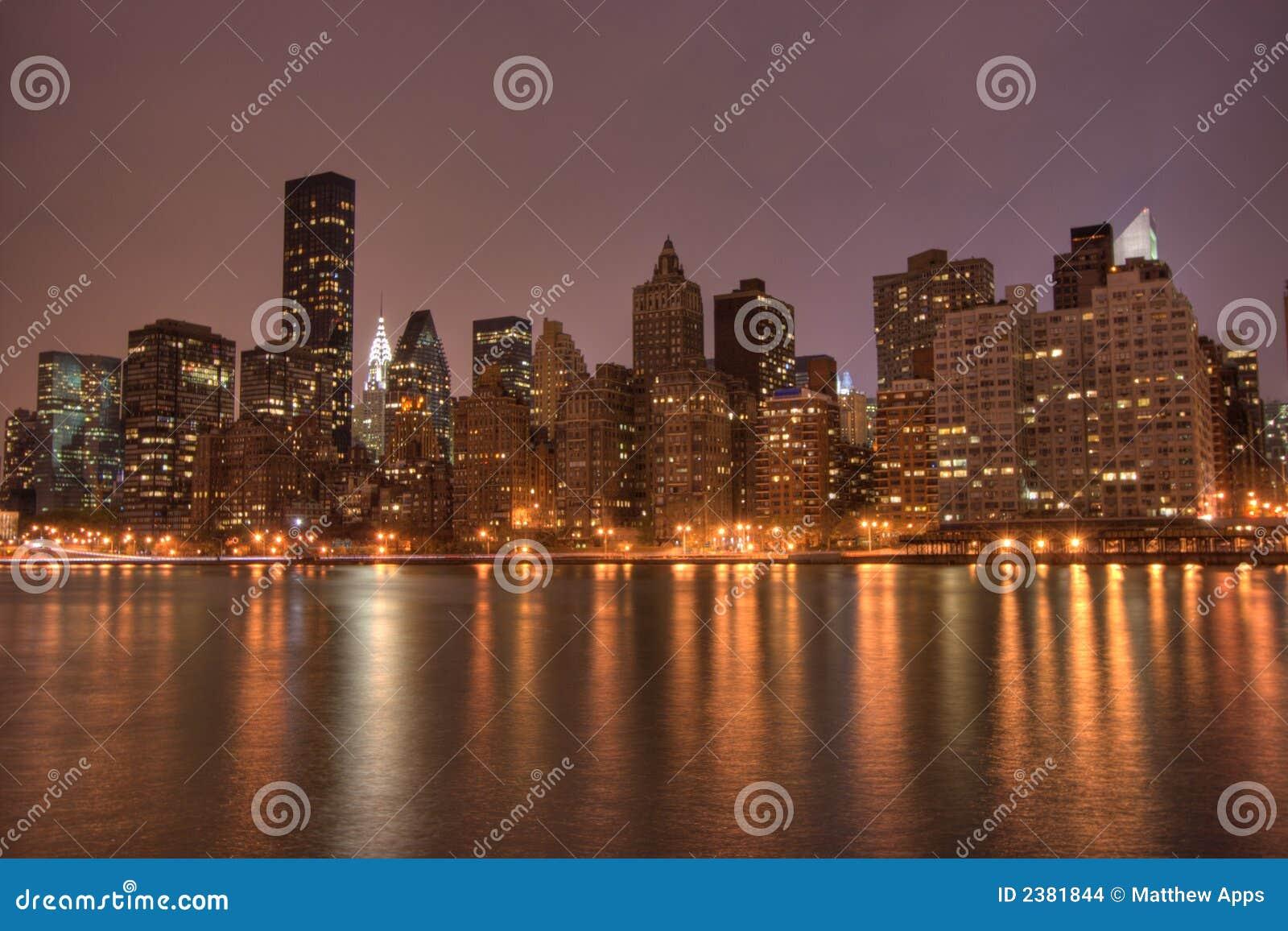 街市曼哈顿晚上