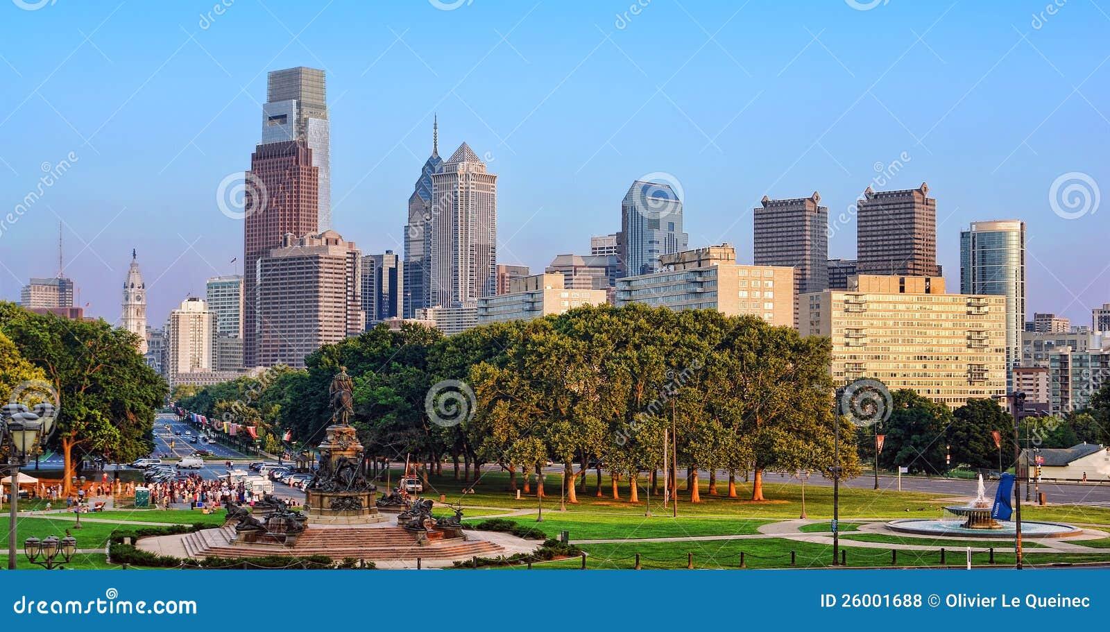 街市费城PA都市风景城市地平线