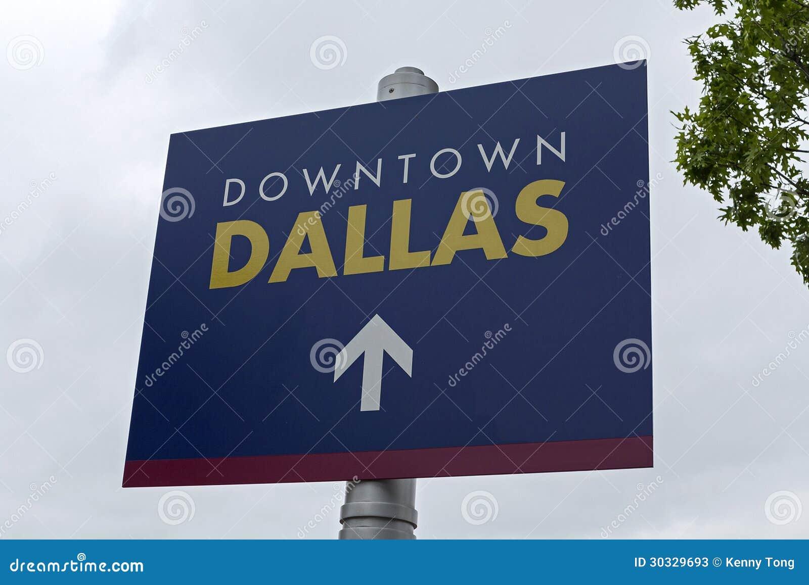 街市达拉斯路牌