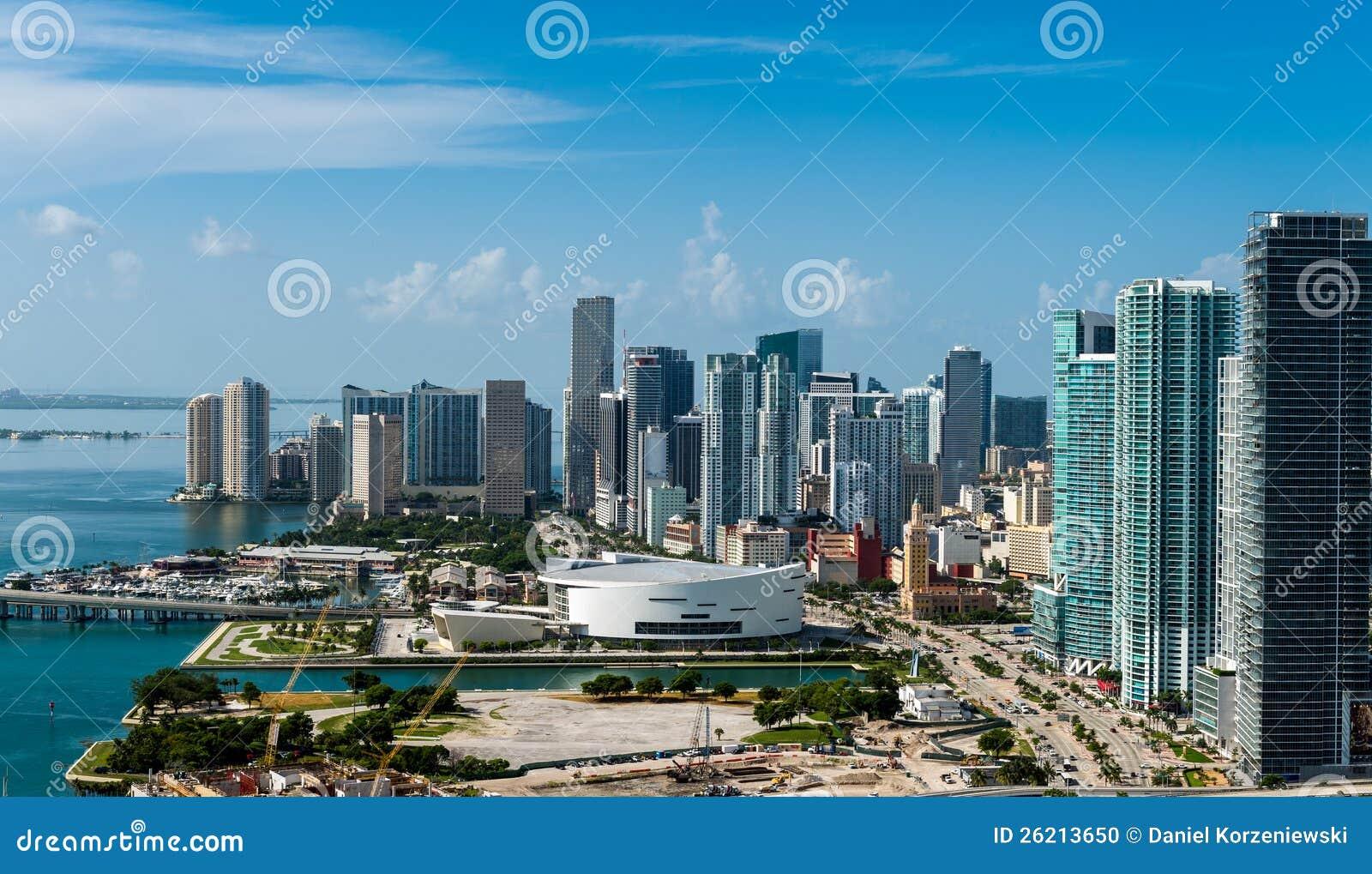 街市迈阿密鸟瞰图