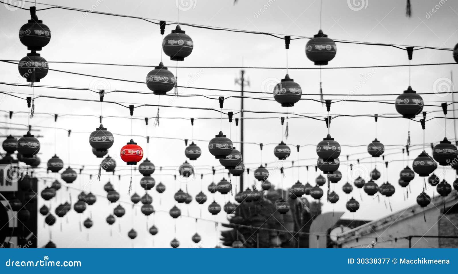 街道中国人灯笼