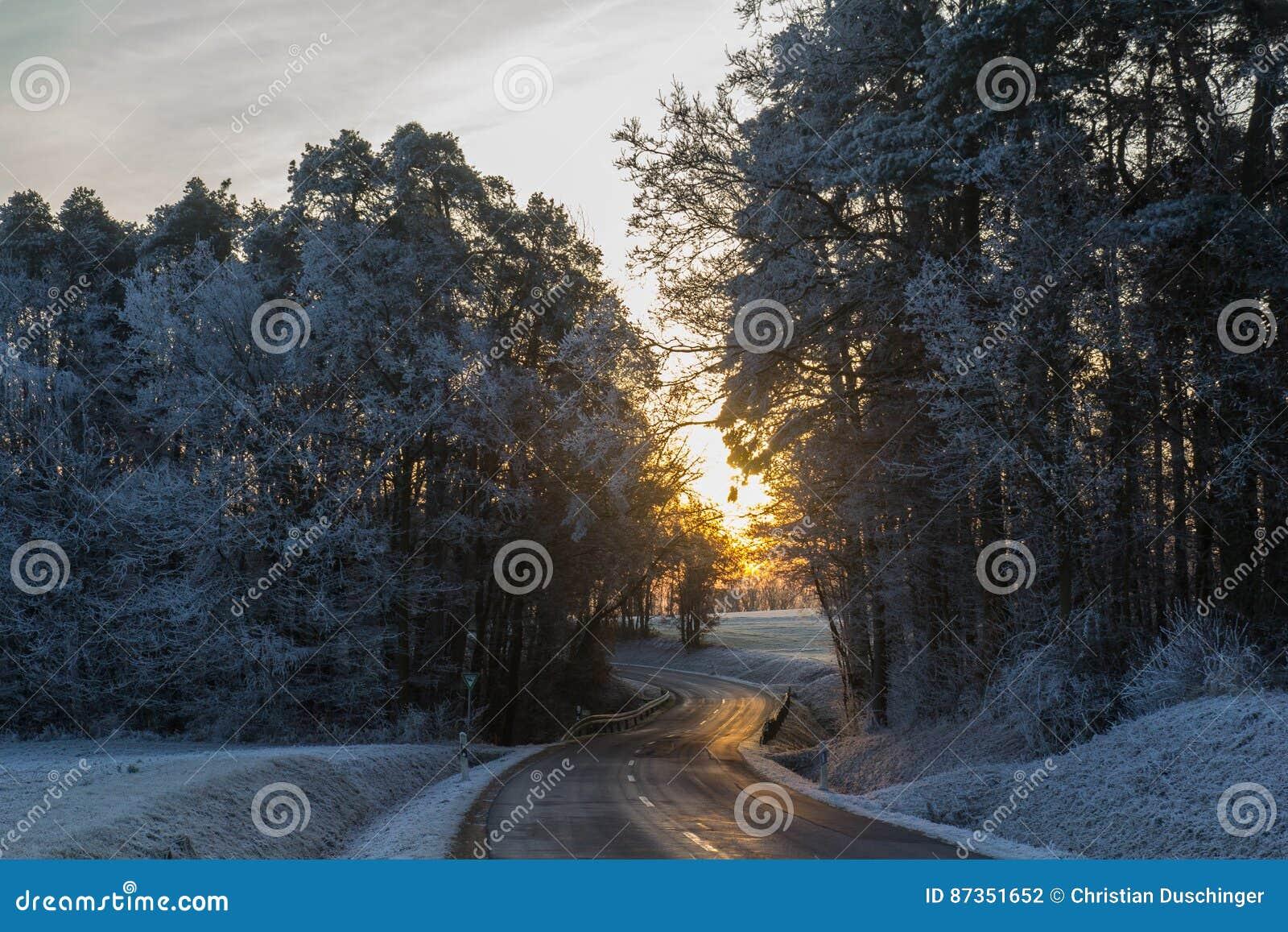街道在冬天
