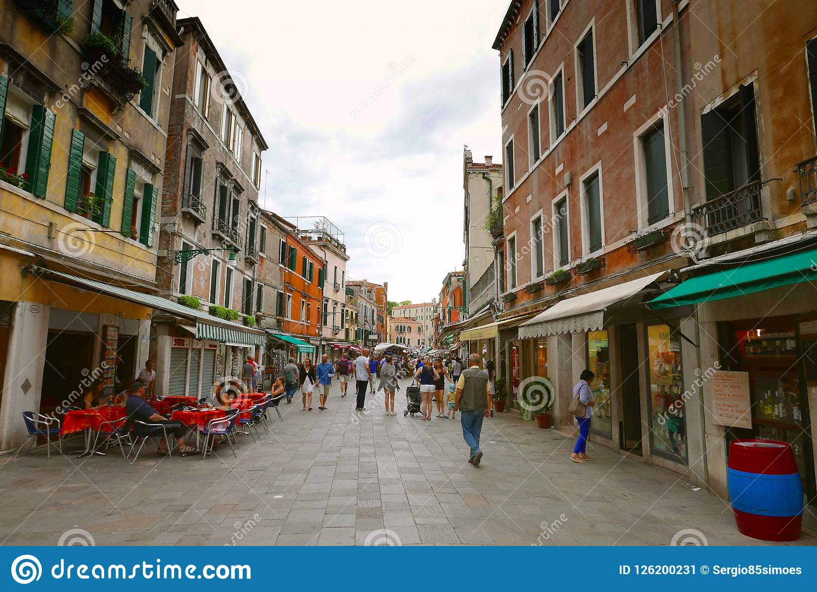 街道场面在威尼斯