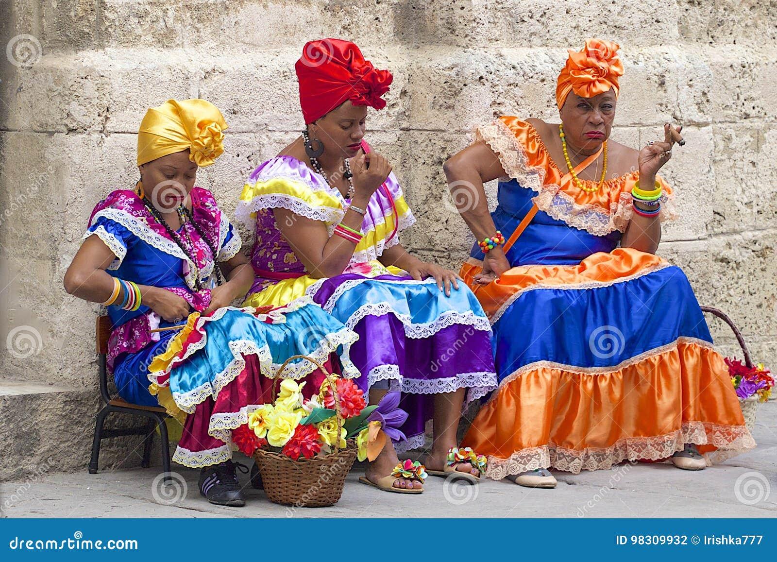 街道艺人在哈瓦那,古巴