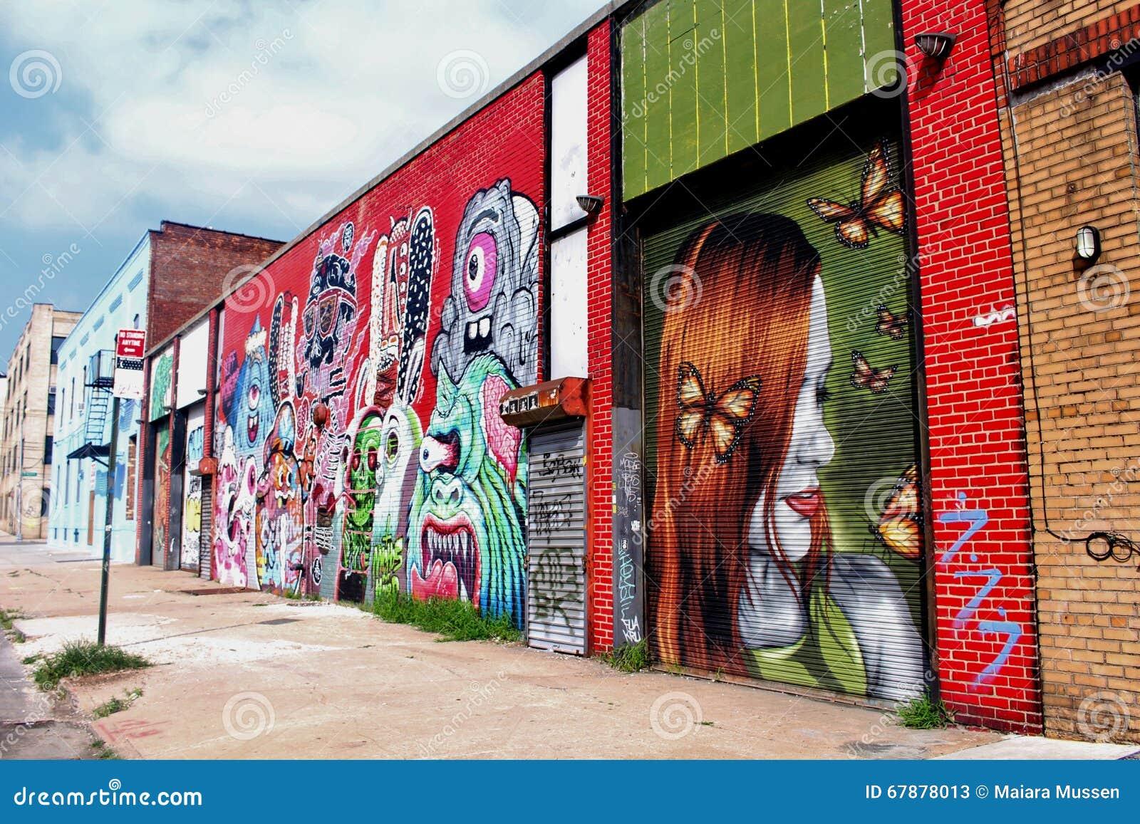 街道艺术在布鲁克林- NY