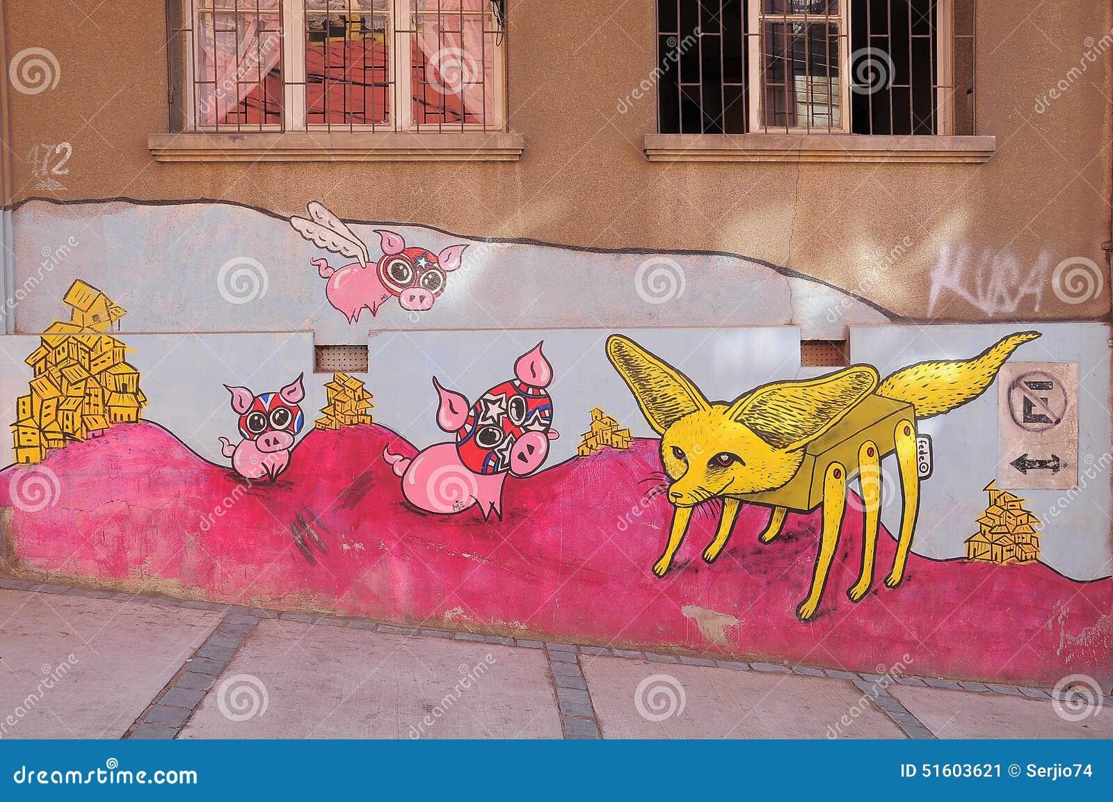 街道艺术在瓦尔帕莱索