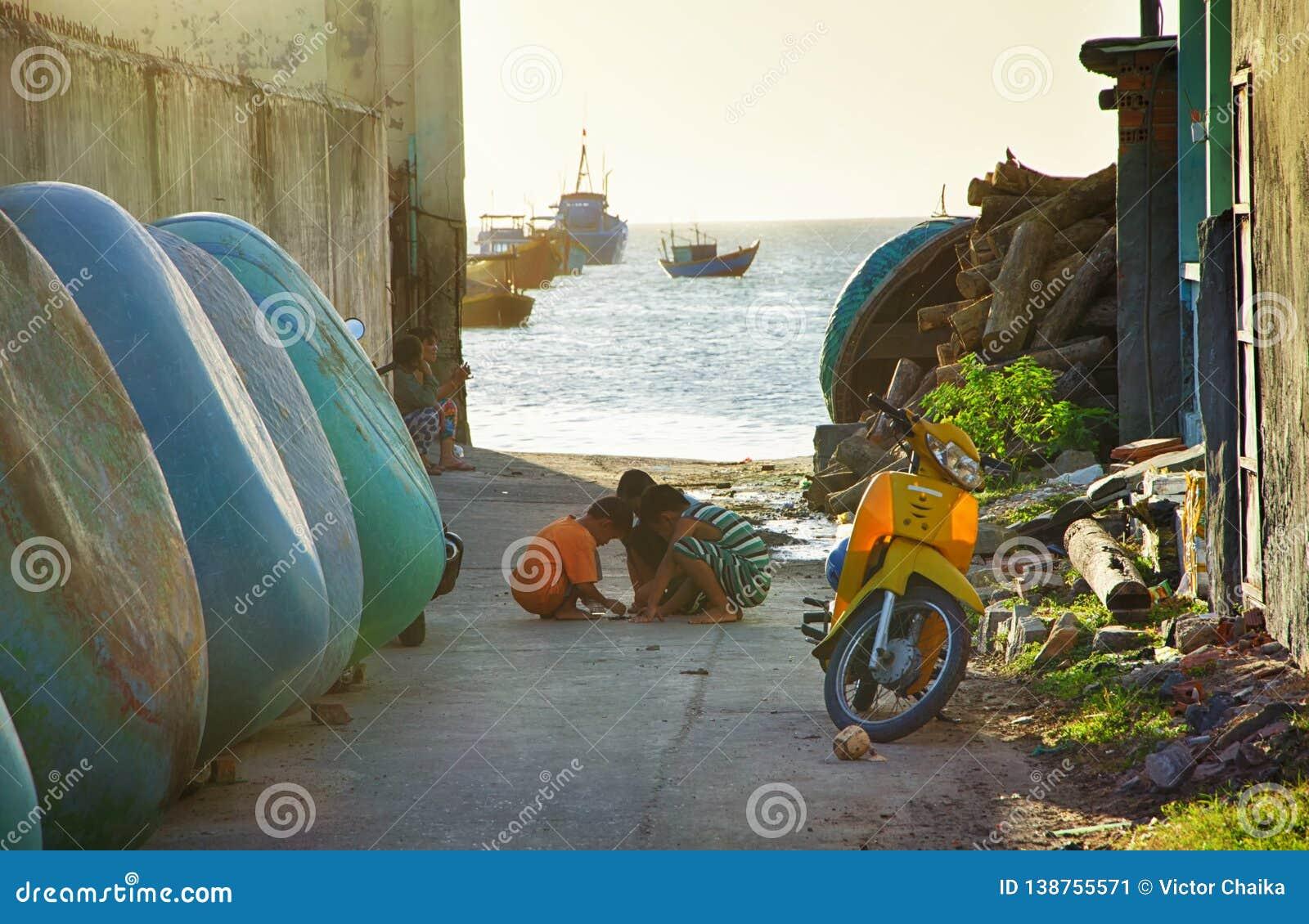 街道越南渔村 angthong国家公园海运泰国视图