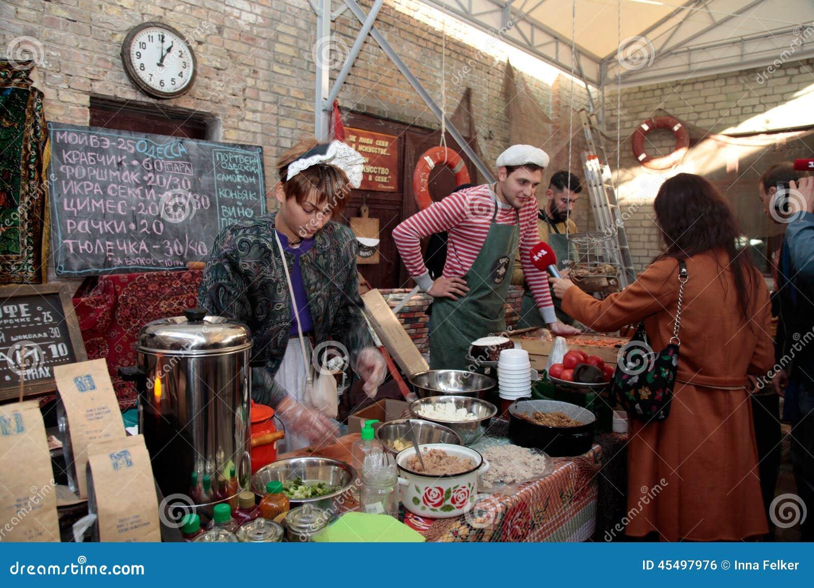 街道食物节日在Kyiv,乌克兰