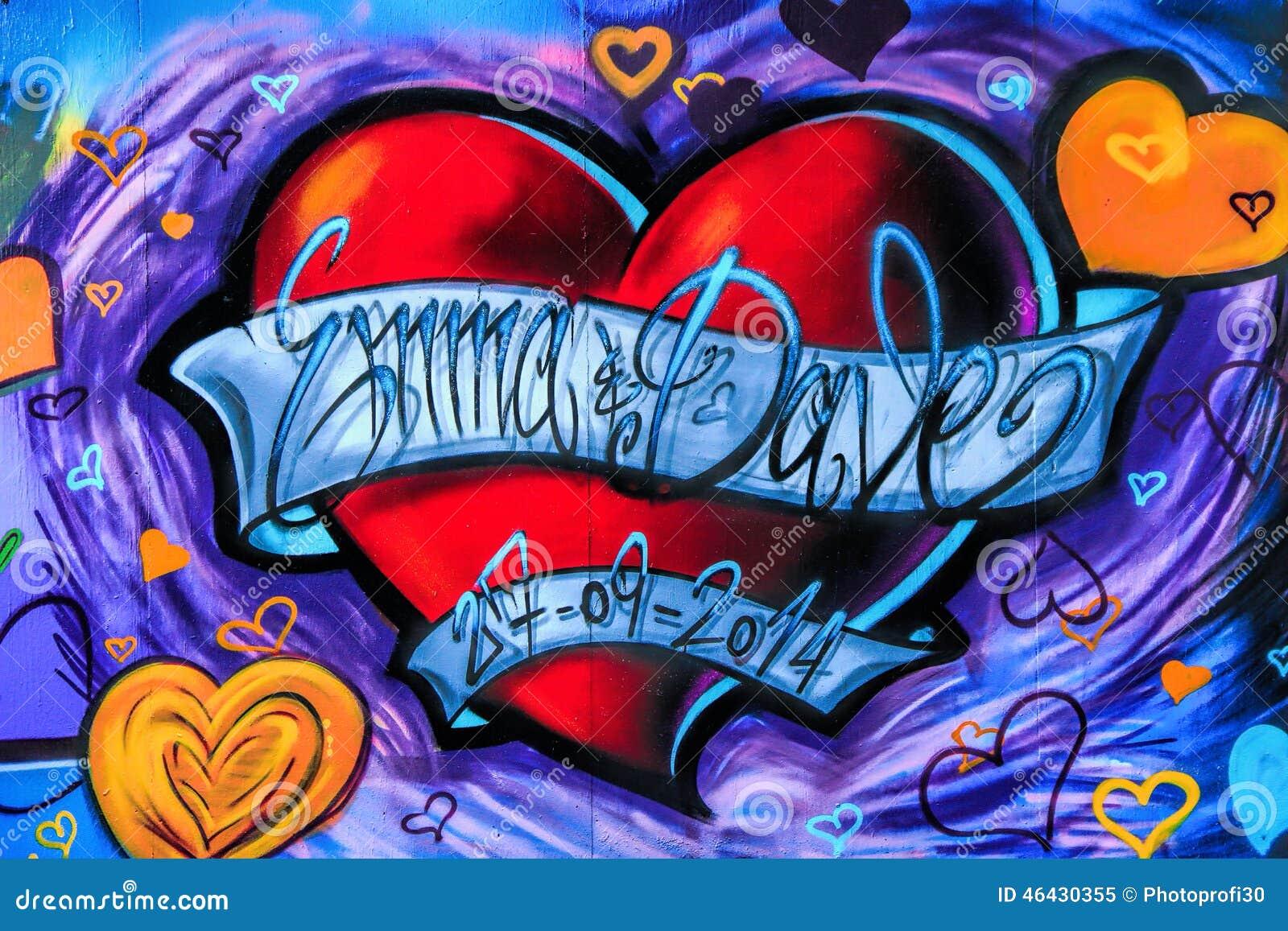 街道画心脏 编辑类图片