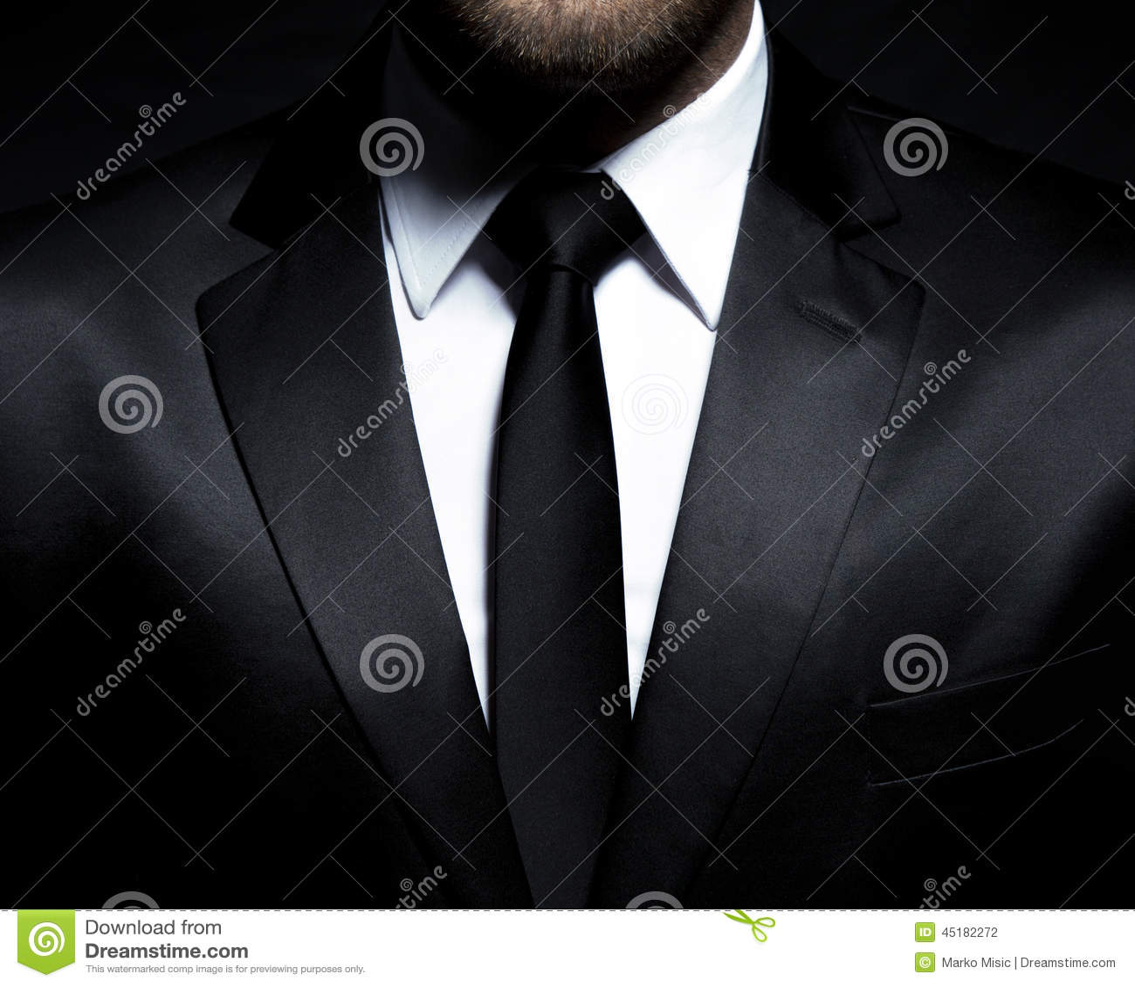 黑衣服和领带的人绅士