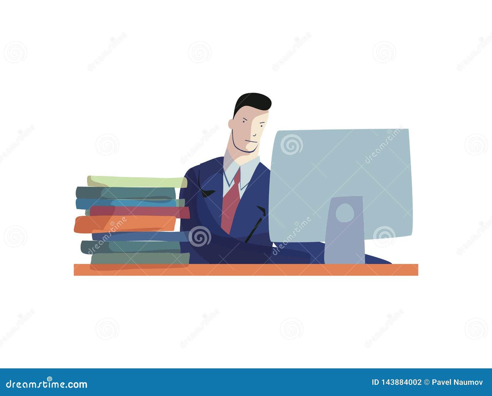 衣服工作的人在计算机 事务天
