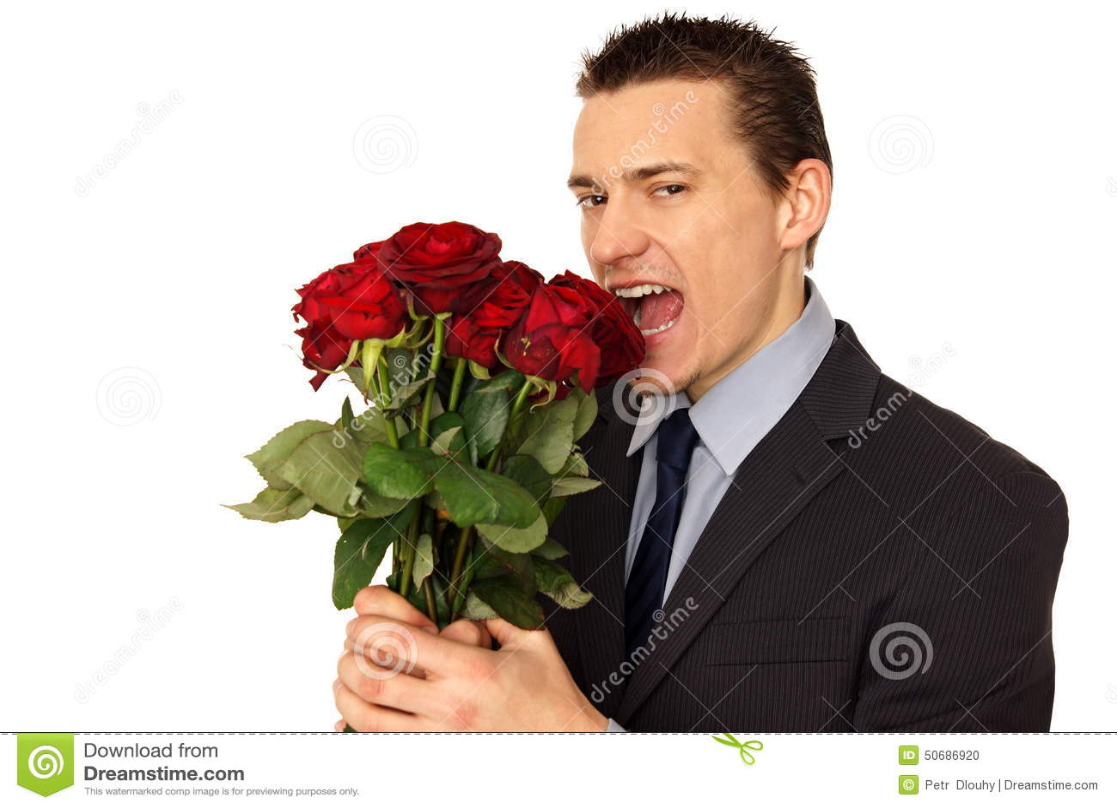 Download 衣服的人吃玫瑰 库存照片. 图片 包括有 开花, 叶子, 成功, 现有量, 商业, 衬衣, 高雅, 绽放 - 50686920