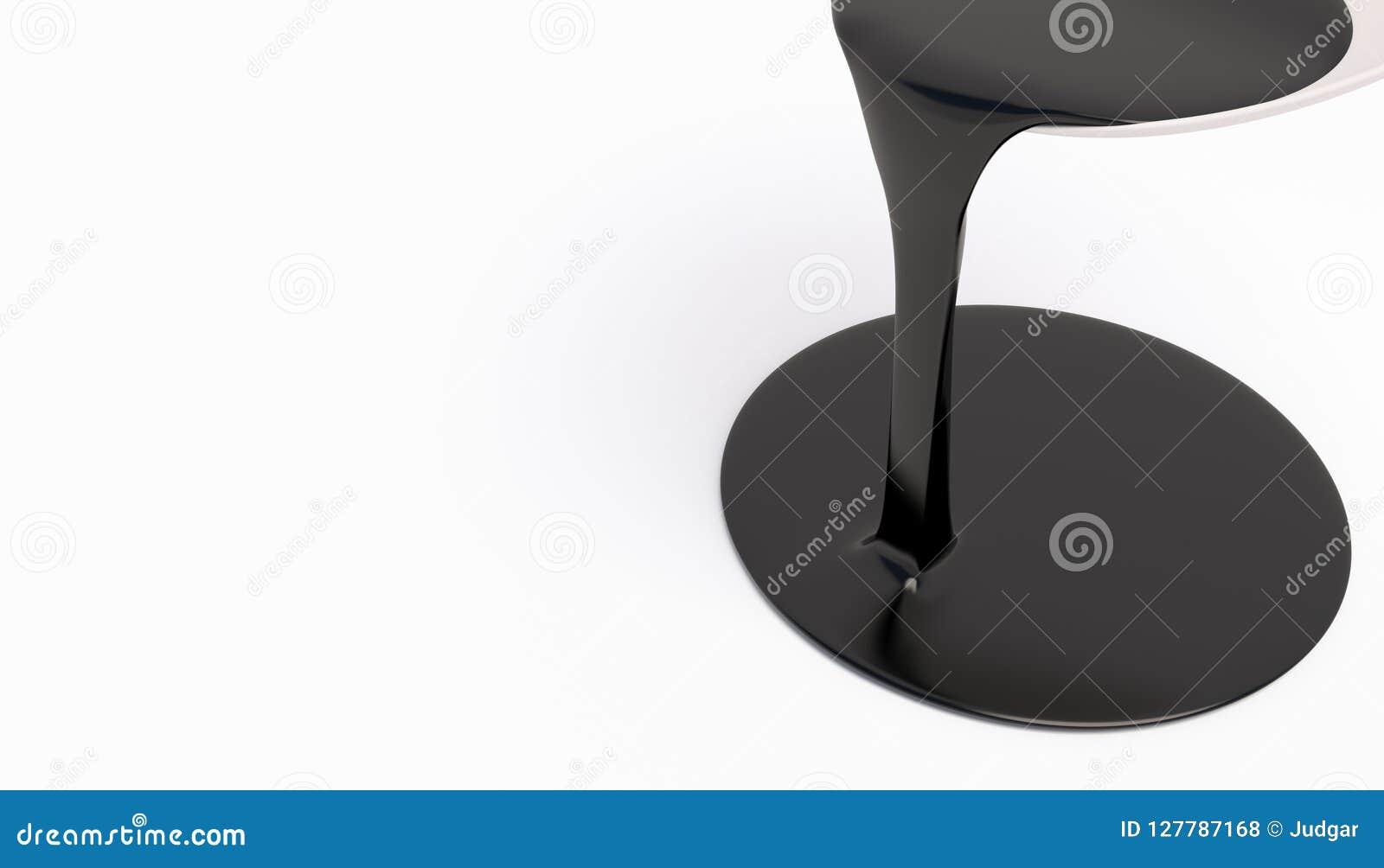 表面上溢出的黑树胶水彩画颜料油漆 厚实的液体一架被隔绝的喷气机在白色背景的 与自由空间的横幅文本的