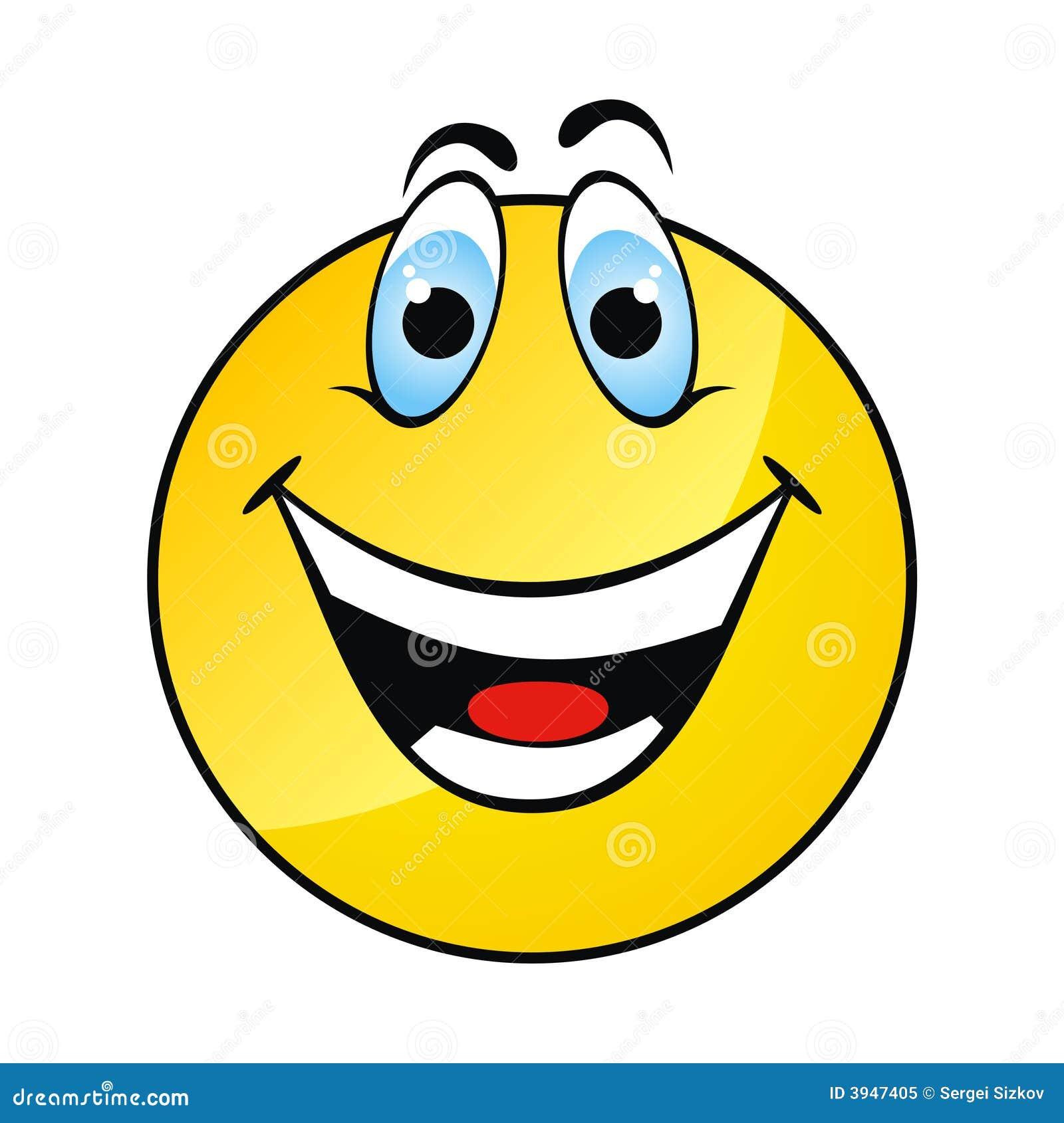 表面愉快的微笑黄色