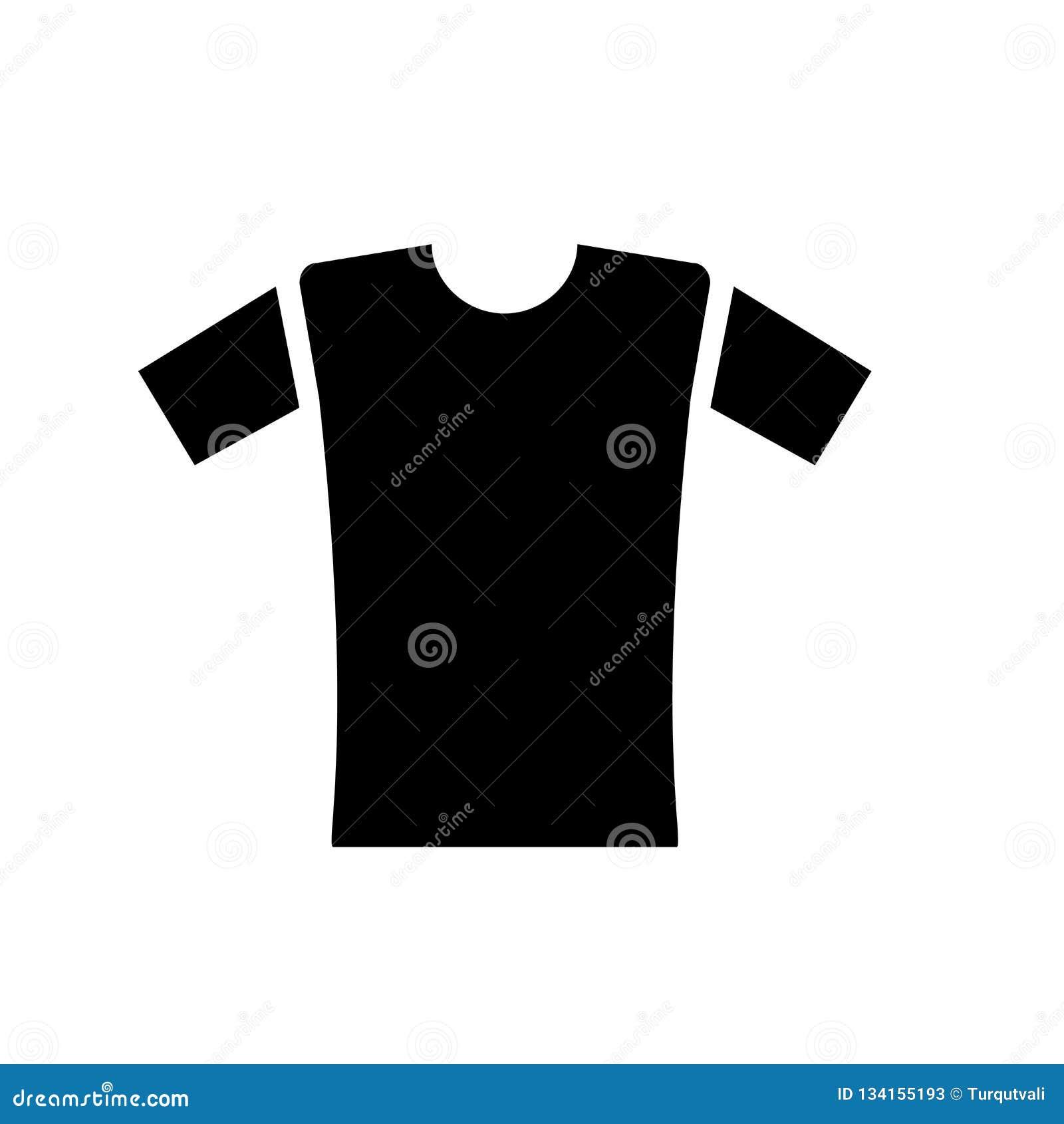 衬衣象在白色背景和标志隔绝的传染媒介标志,衬衣商标概念