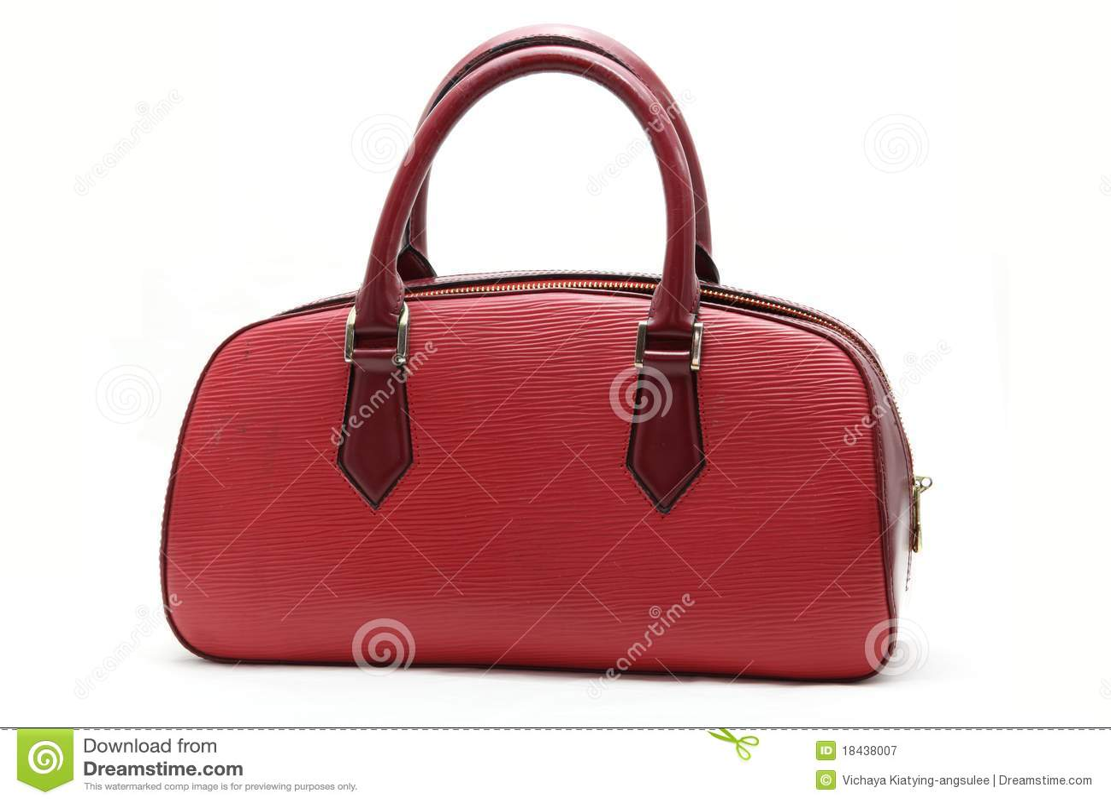 袋子假皮革红色妇女