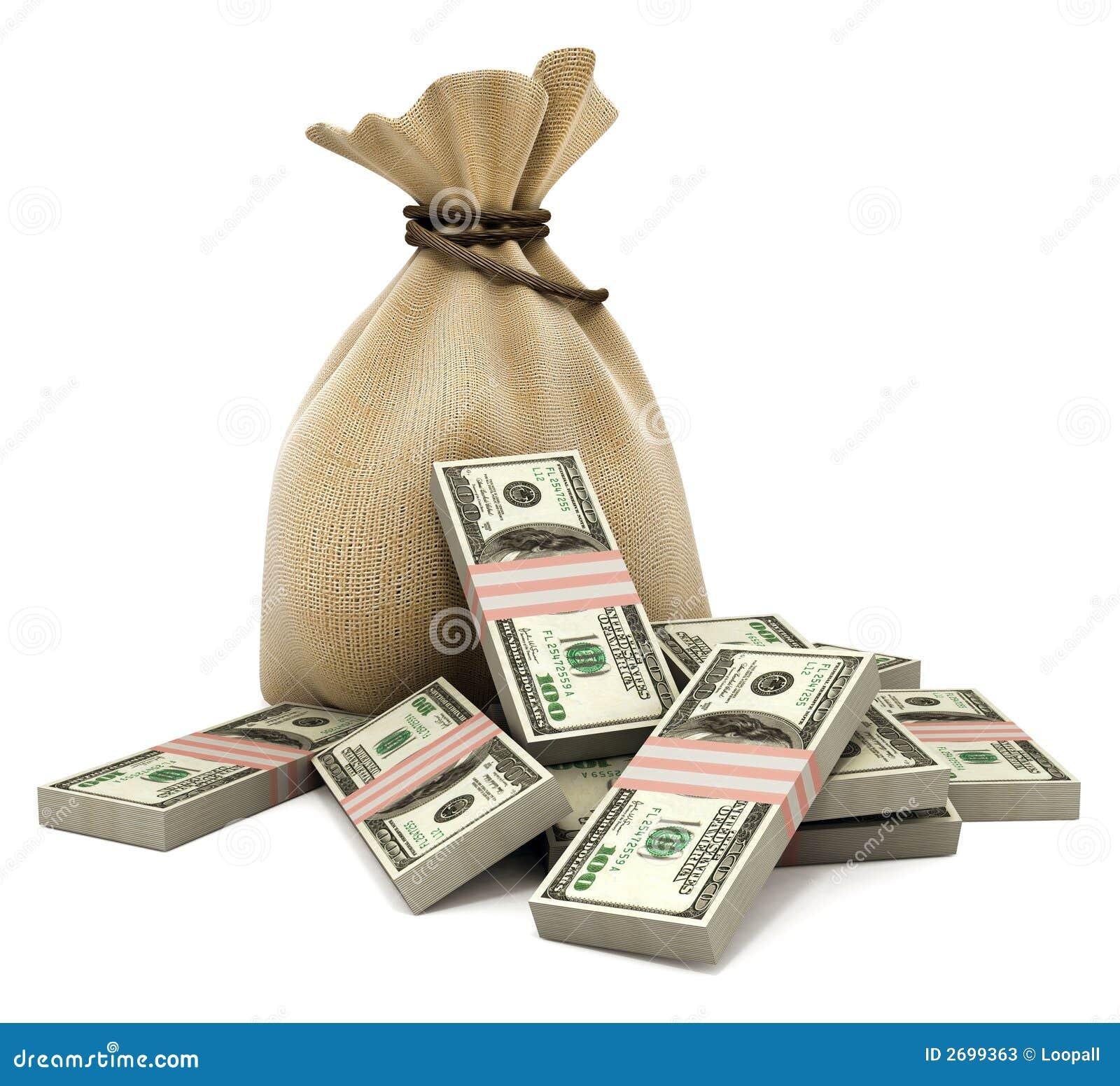 袋子美元货币