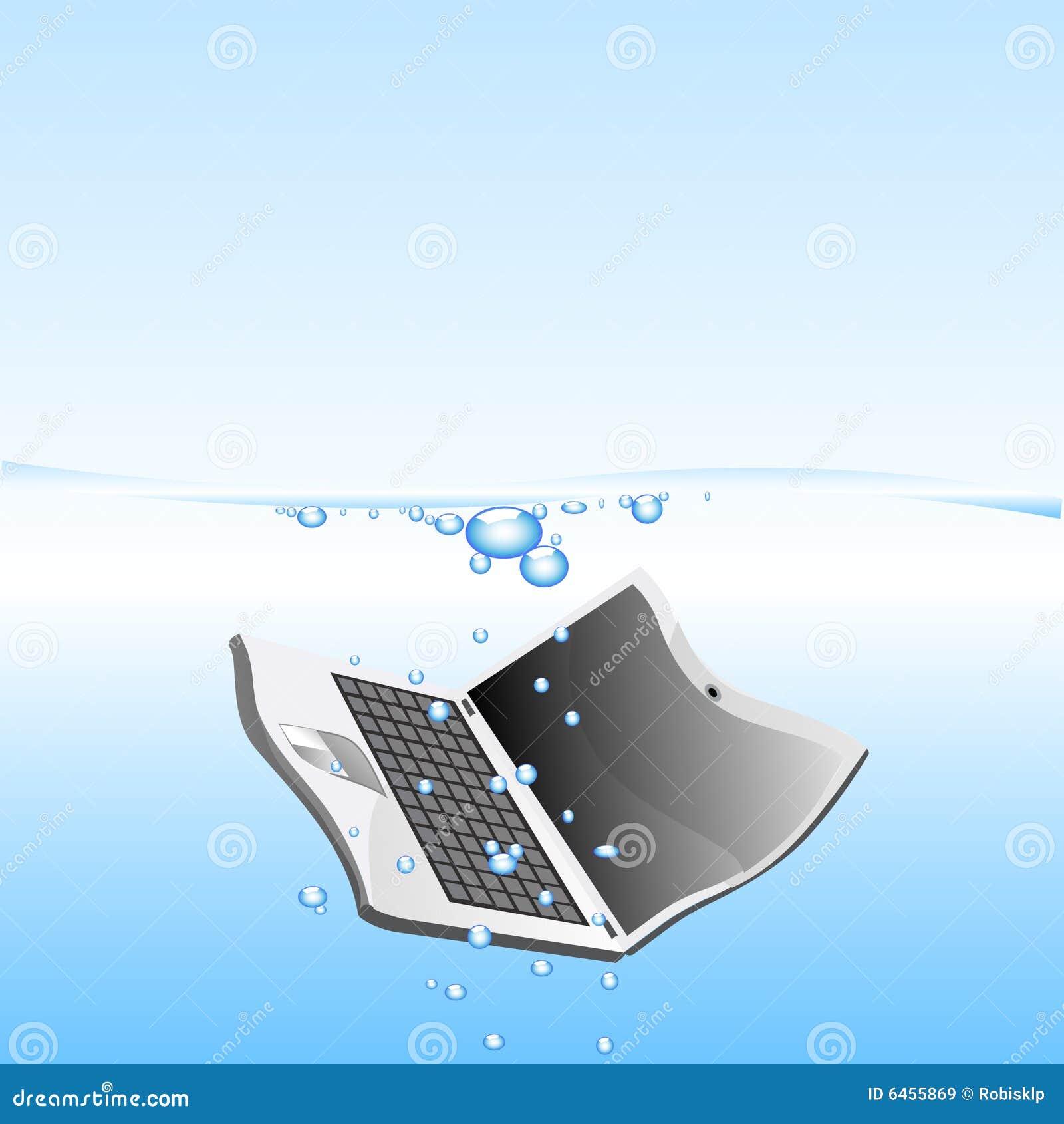 被丢弃的膝上型计算机水