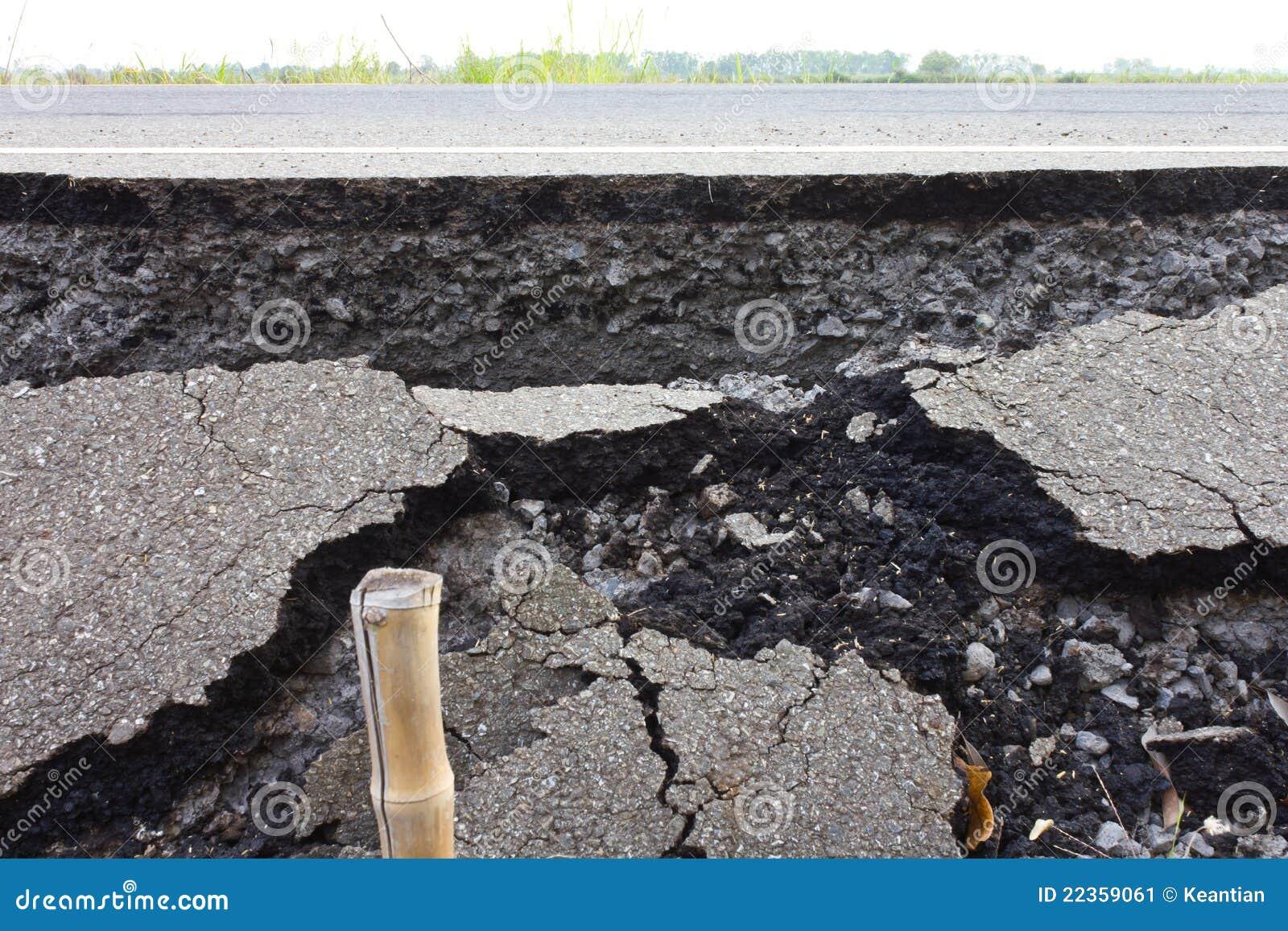 被中断的沥青
