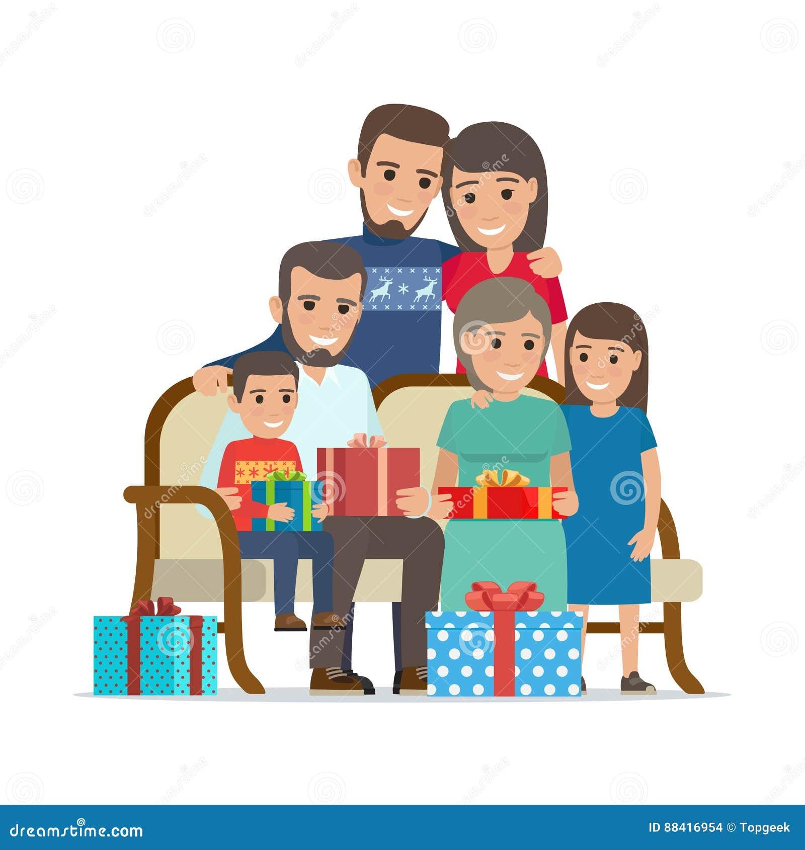 被会集的家庭结合在一起使当前箱子
