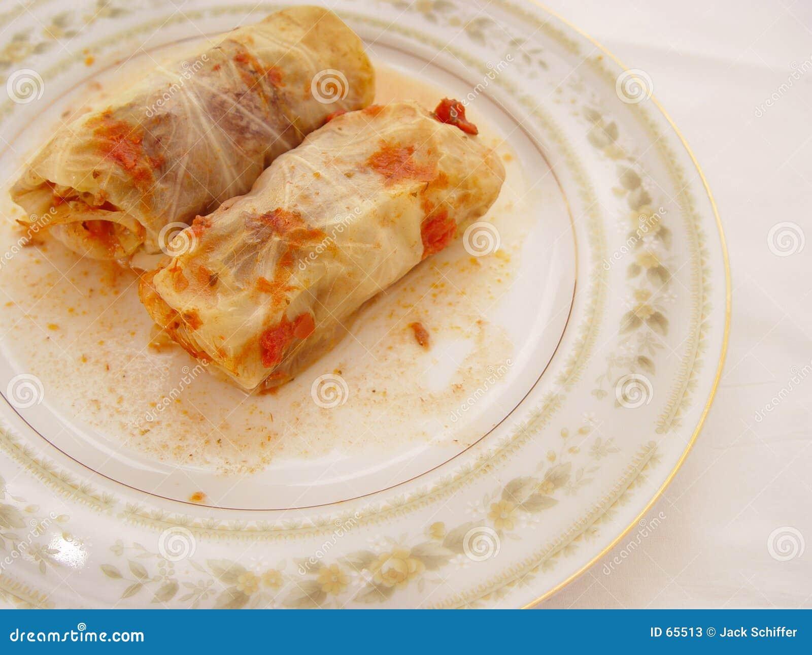 被充塞的圆白菜卷