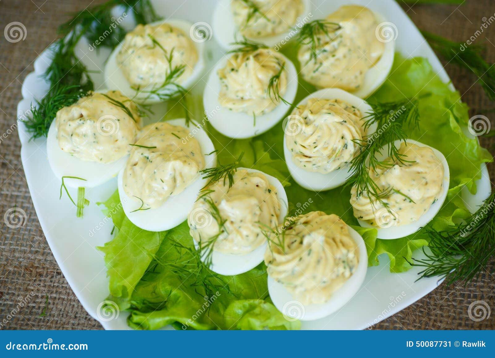 被充塞的鸡蛋