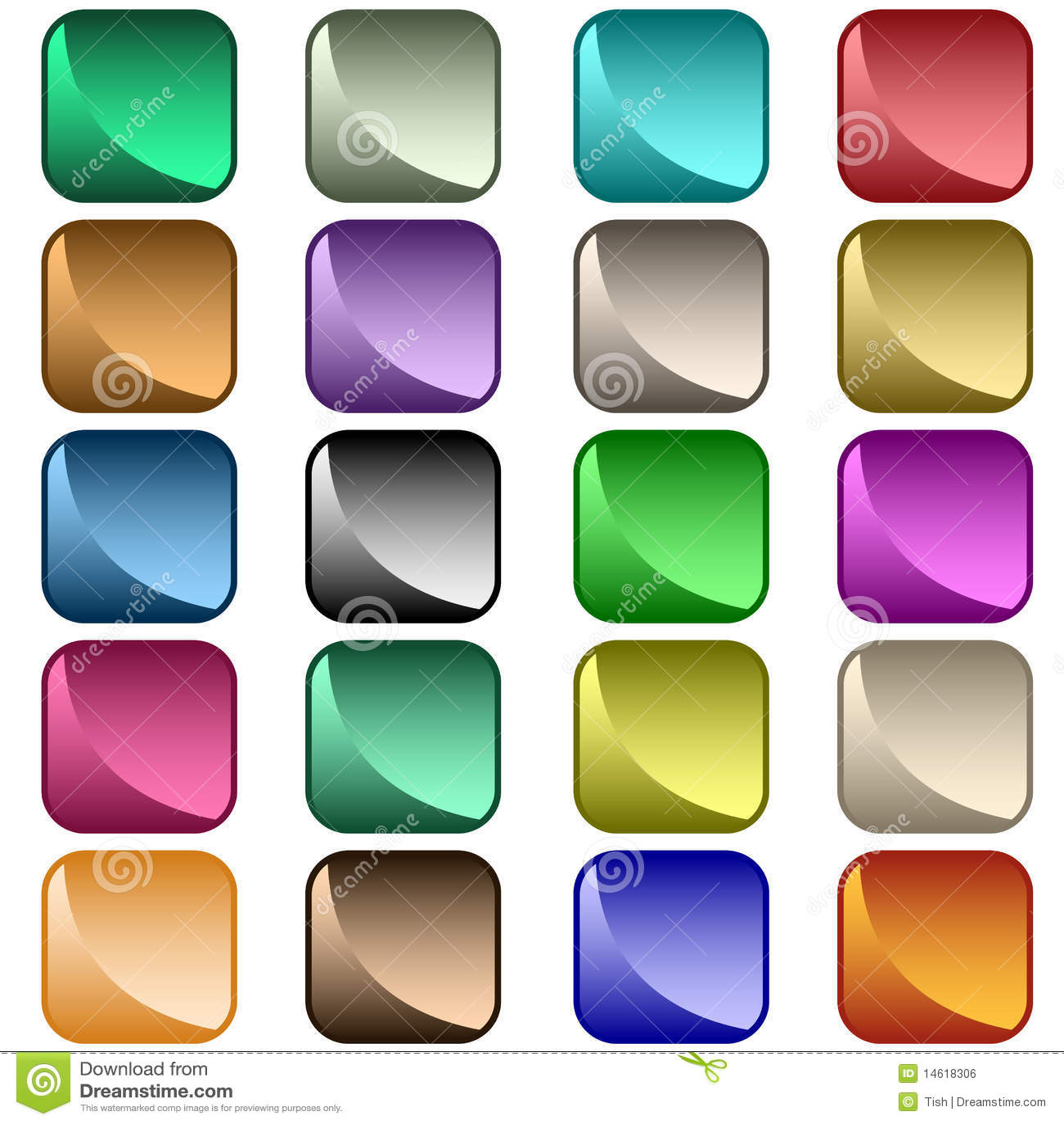 被分类的按钮颜色万维网