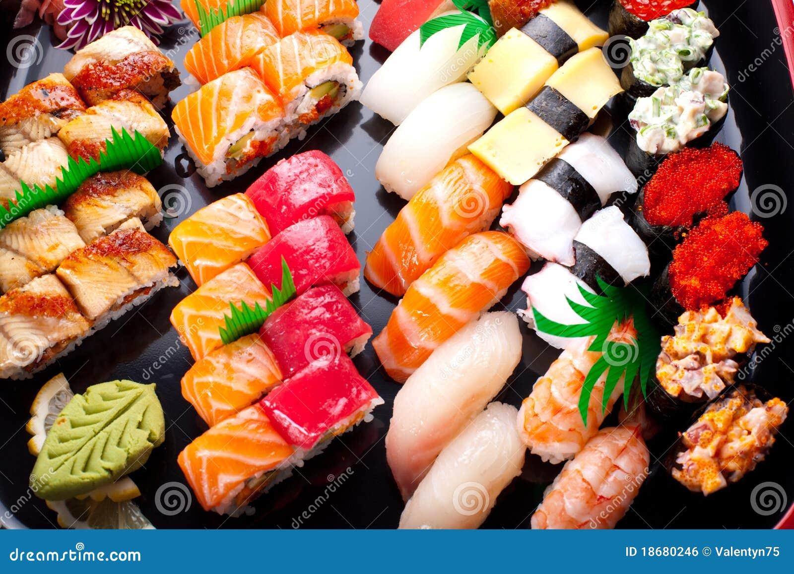 被分类的日本寿司