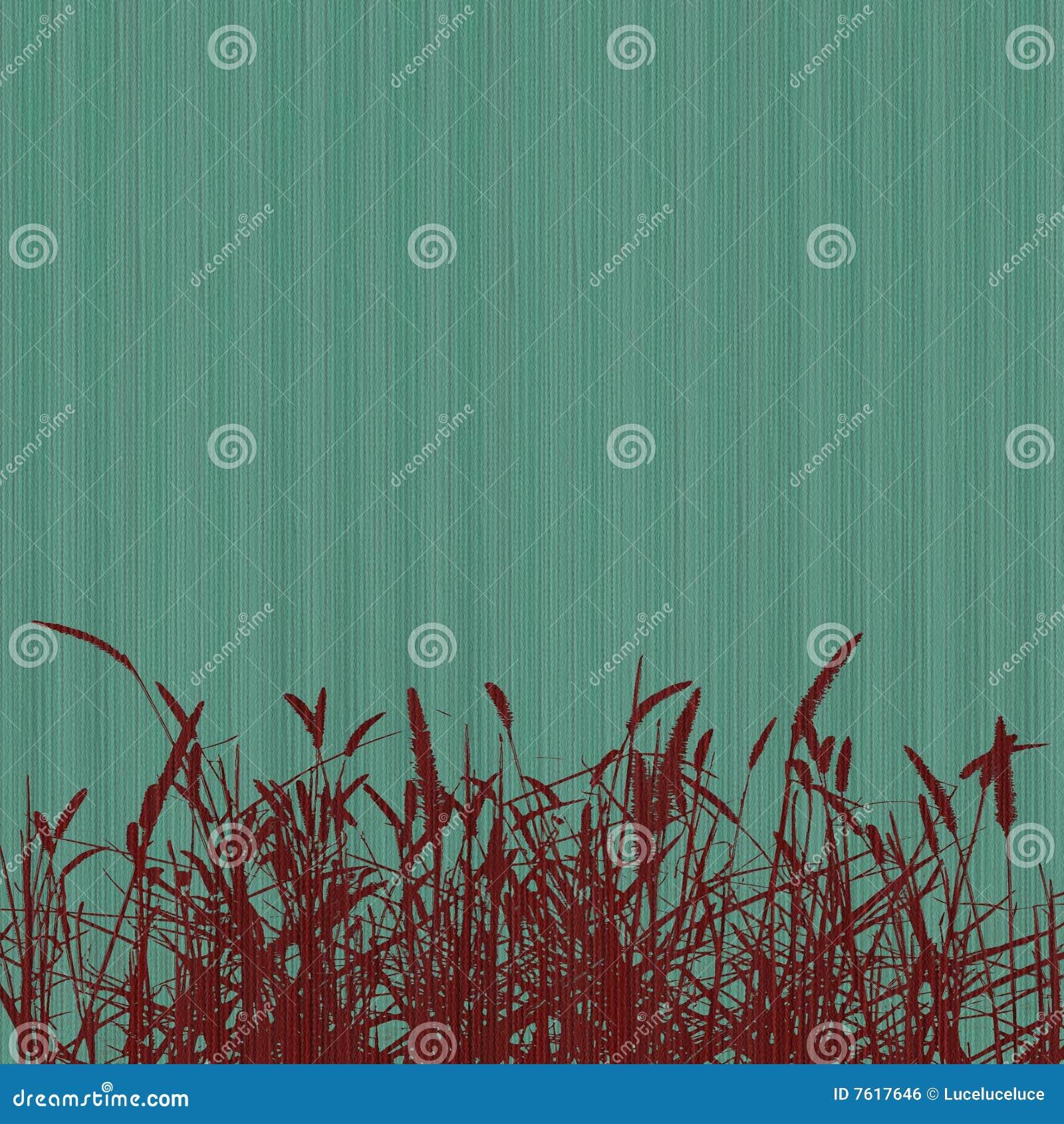 被取笑的背景蓝色草红色