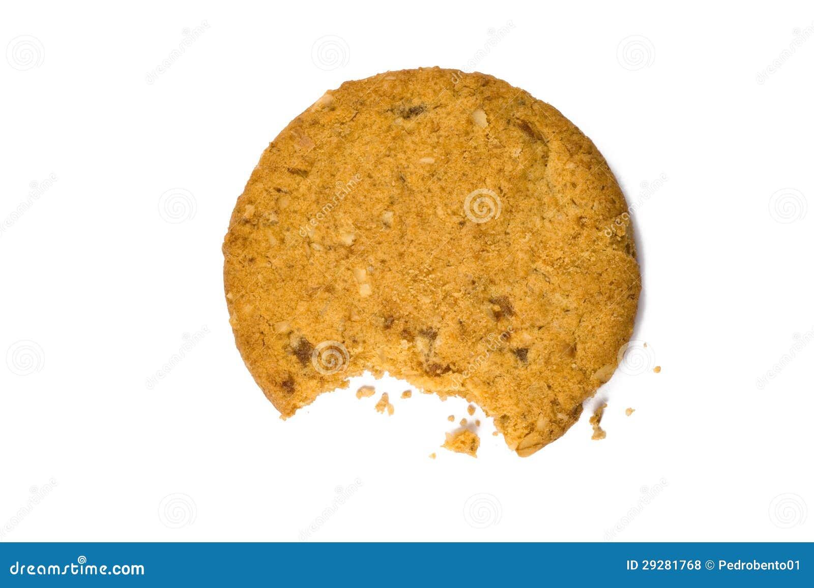 被咬住的曲奇饼