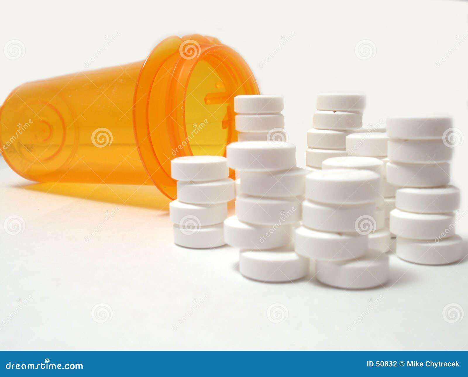 被堆积的药片