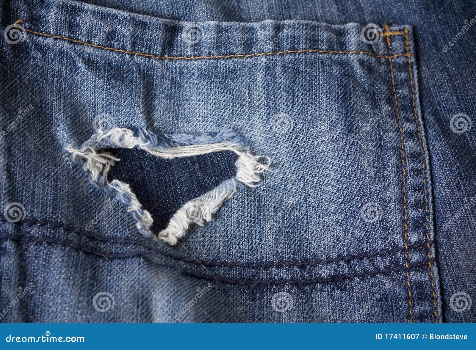 被塑造的重点牛仔裤老对裂口