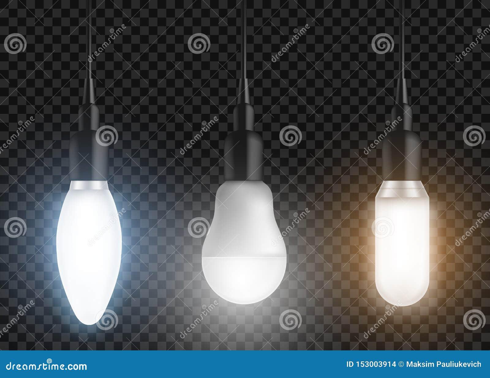 被带领的电灯泡集合 辉光灯,现代电灯泡