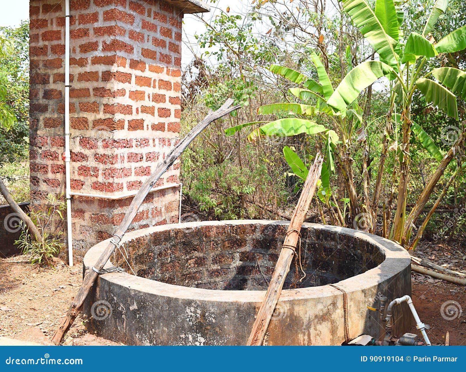 水被开掘的在印地安村庄