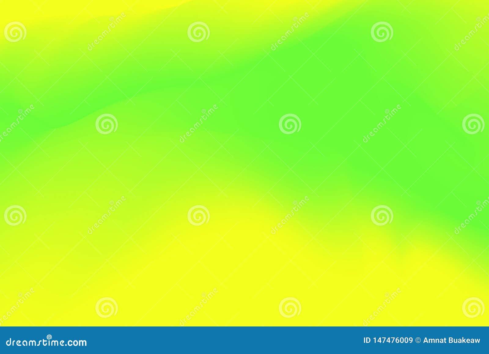 被弄脏的绿色和黄色淡色软绵绵地挥动背景摘要的,在水彩艺术的例证梯度五颜六色的作用