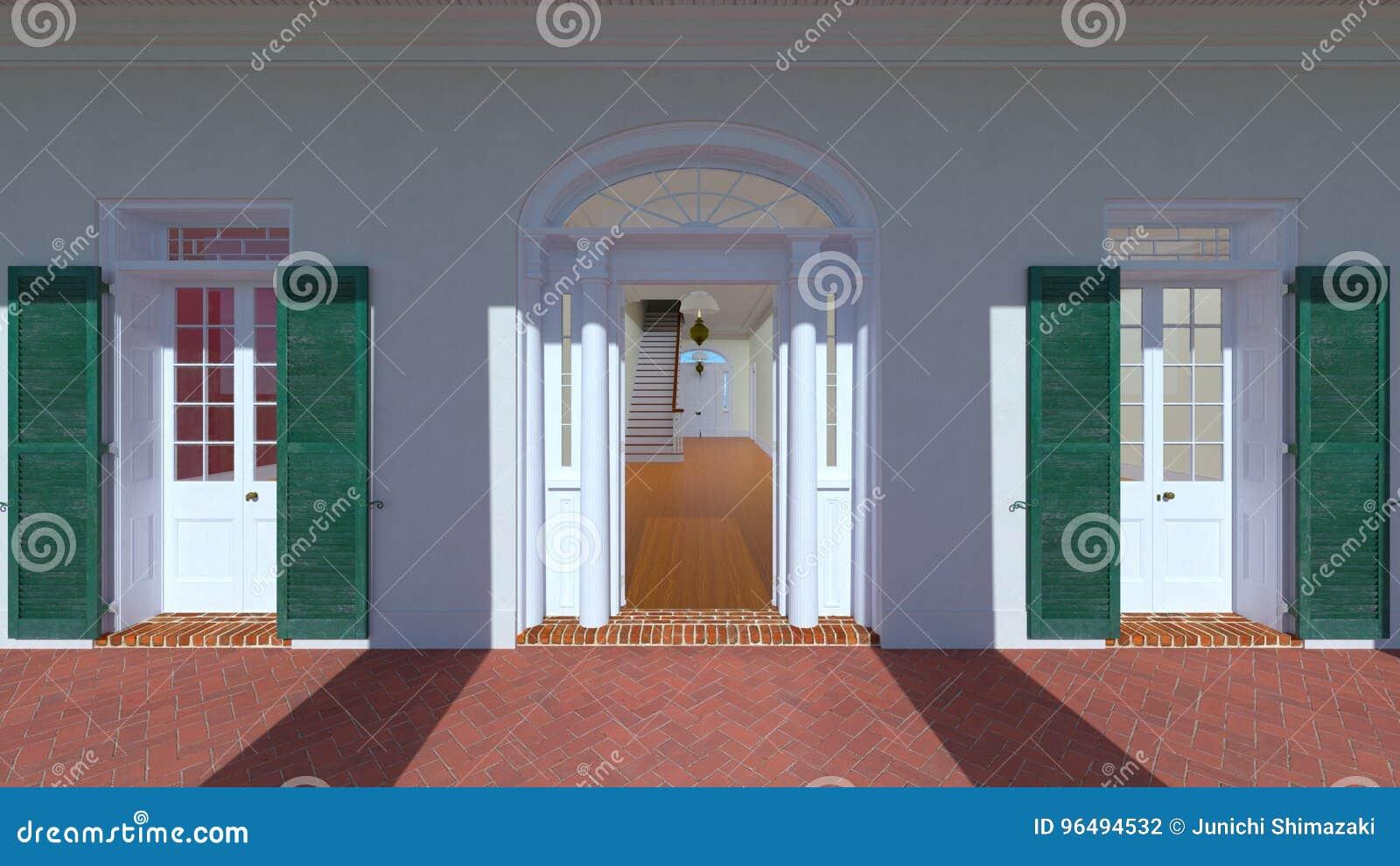 被成拱形的门道入口