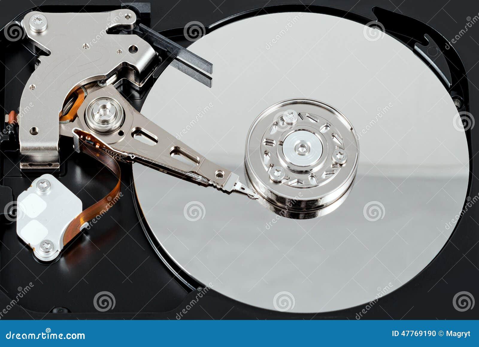 被打开的外在硬盘 选择聚焦