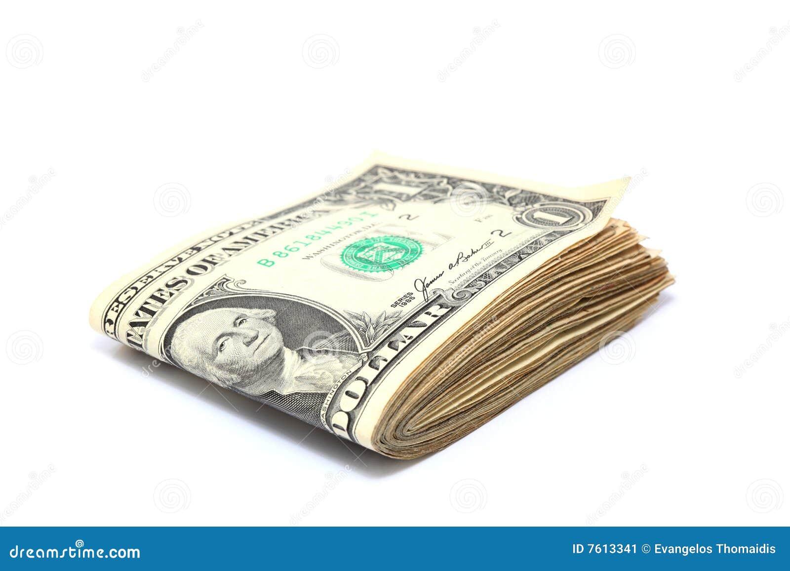 被折叠的美元