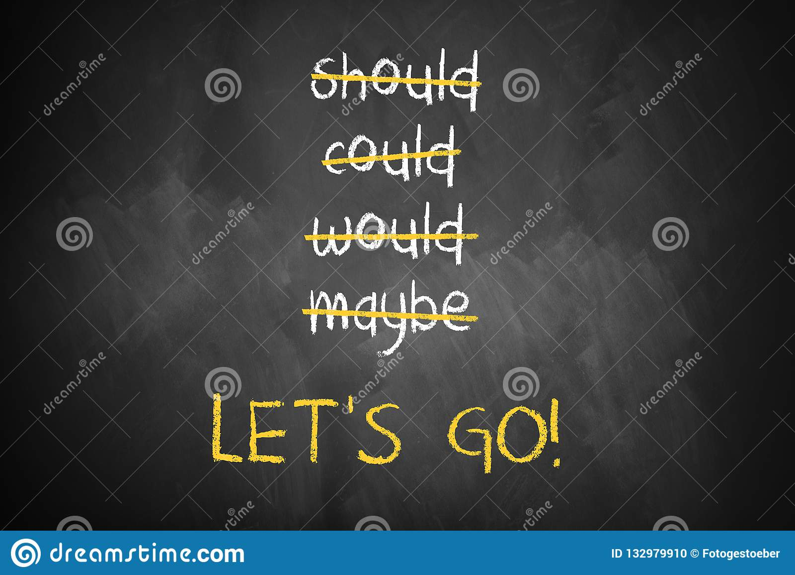 被抚摸的词喜欢可能并且应该,并且'让我们走'在底部