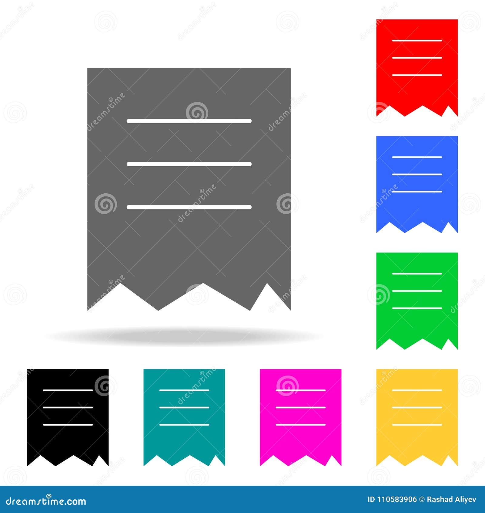 被撕毁的文件象 在多色的象的元素流动概念和网apps的 网站设计和发展的, app象