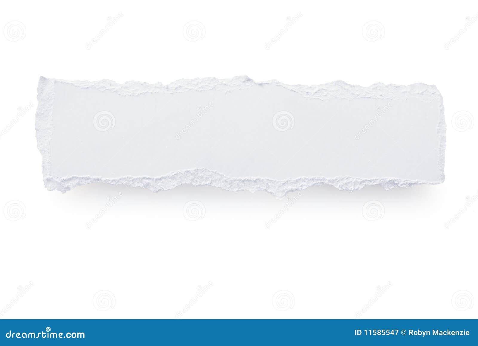 被撕毁的横幅纸张