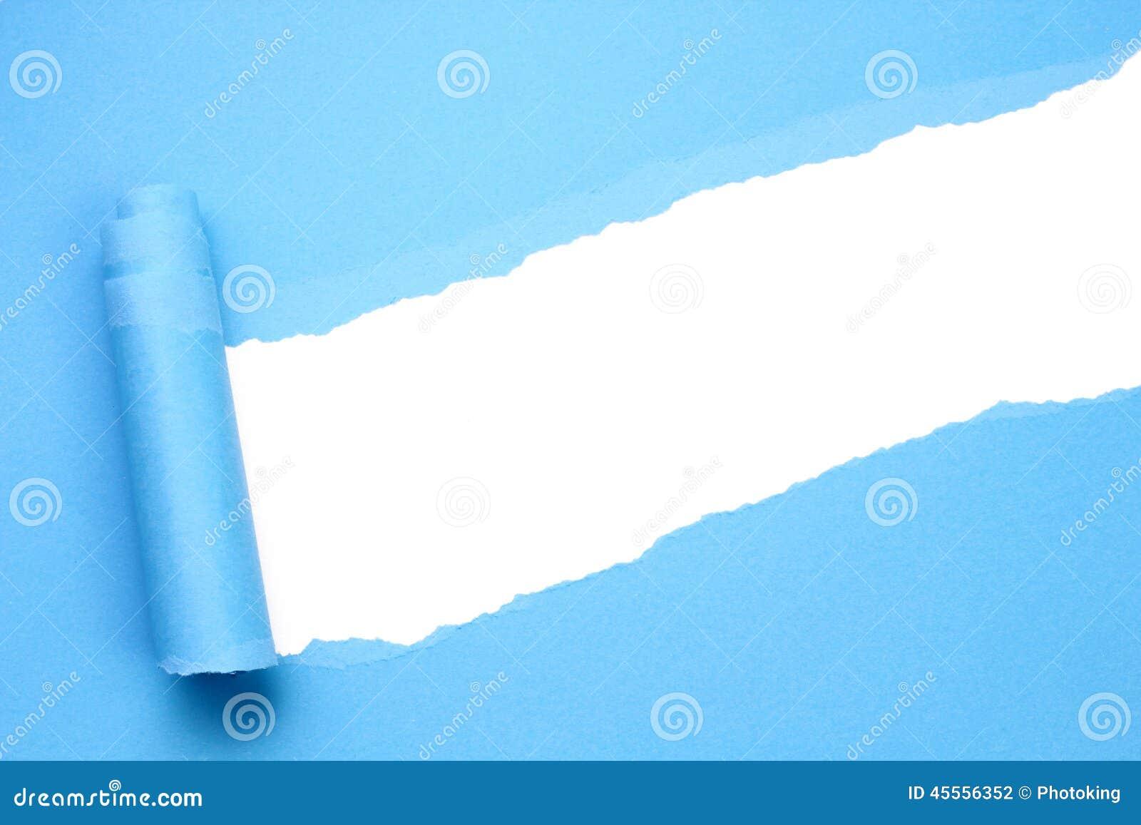 被撕毁的蓝纸
