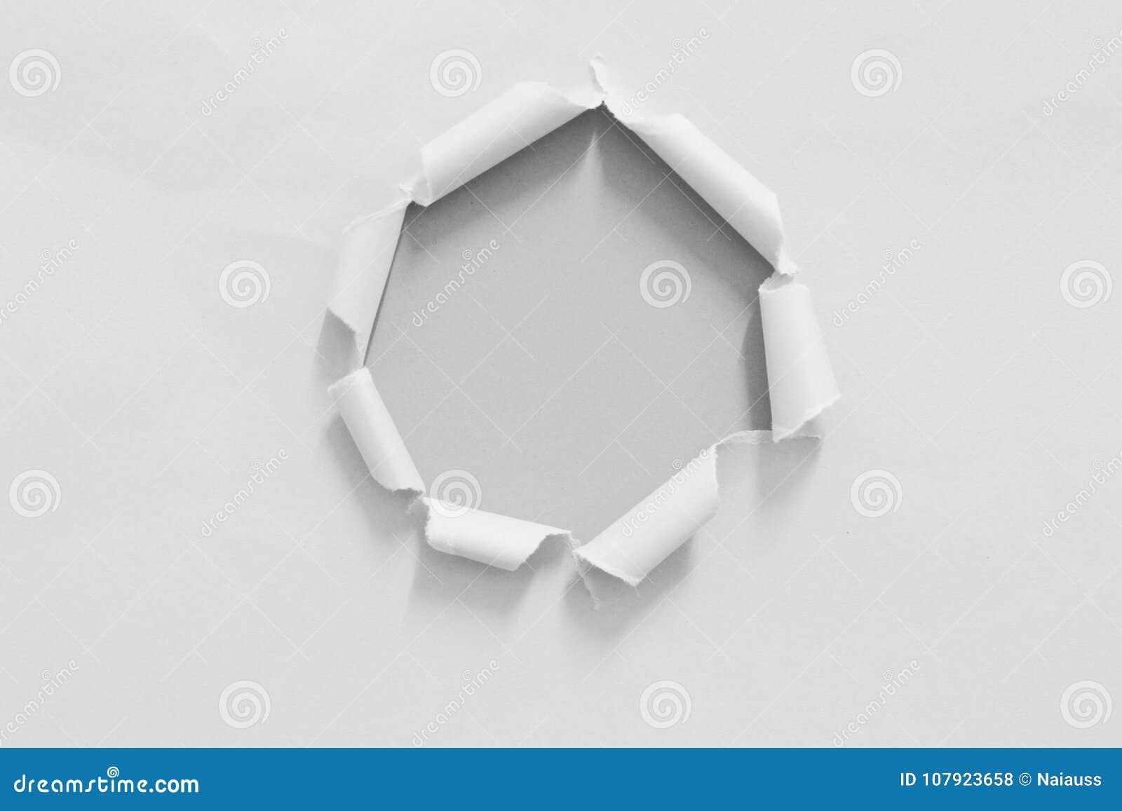 被撕毁的裂口纸